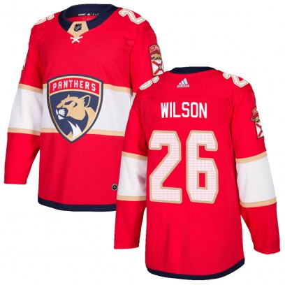 Men's Authentic Florida Panthers Scott Wilson Adidas Home Jersey - Red