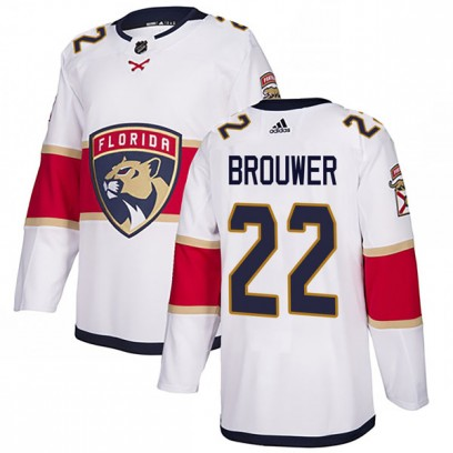 Men's Authentic Florida Panthers Troy Brouwer Adidas Away Jersey - White