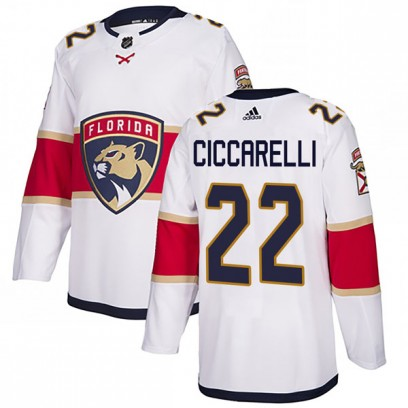 Men's Authentic Florida Panthers Dino Ciccarelli Adidas Away Jersey - White