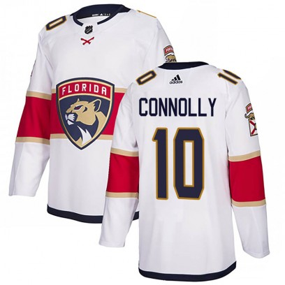 Men's Authentic Florida Panthers Brett Connolly Adidas Away Jersey - White
