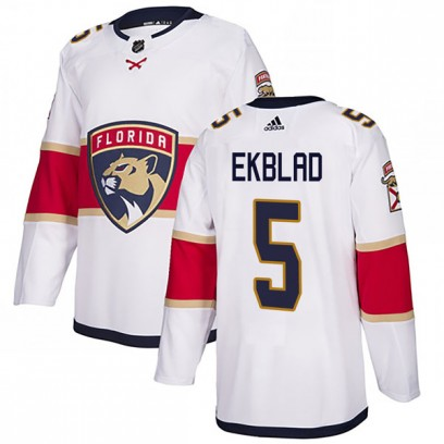 Men's Authentic Florida Panthers Aaron Ekblad Adidas Away Jersey - White