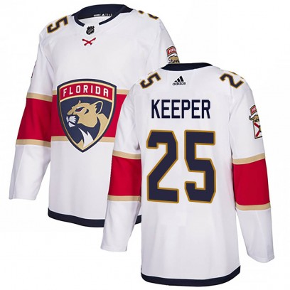 Men's Authentic Florida Panthers Brady Keeper Adidas Away Jersey - White