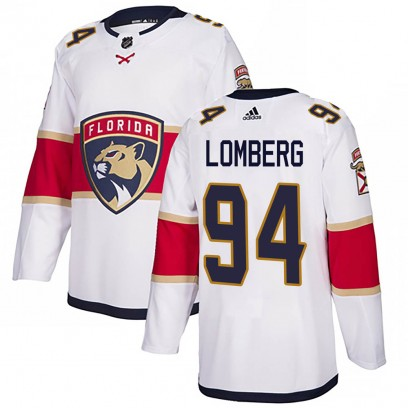 Men's Authentic Florida Panthers Ryan Lomberg Adidas Away Jersey - White