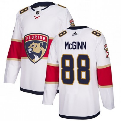 Men's Authentic Florida Panthers Jamie McGinn Adidas Away Jersey - White
