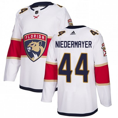 Men's Authentic Florida Panthers Rob Niedermayer Adidas Away Jersey - White