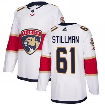 Men's Authentic Florida Panthers Riley Stillman Adidas Away Jersey - White