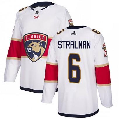 Men's Authentic Florida Panthers Anton Stralman Adidas Away Jersey - White