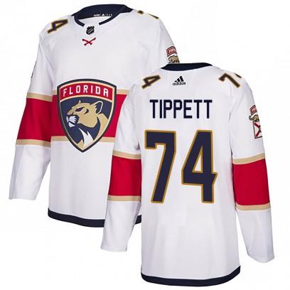 Men's Authentic Florida Panthers Owen Tippett Adidas Away Jersey - White