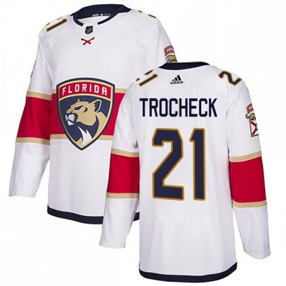 Men's Authentic Florida Panthers Vincent Trocheck Adidas Away Jersey - White