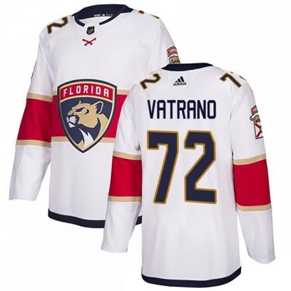 Men's Authentic Florida Panthers Frank Vatrano Adidas Away Jersey - White