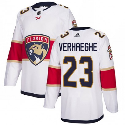 Men's Authentic Florida Panthers Carter Verhaeghe Adidas Away Jersey - White