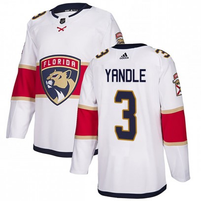 Men's Authentic Florida Panthers Keith Yandle Adidas Away Jersey - White