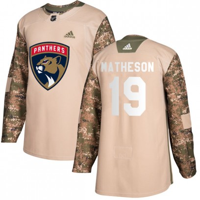 Men's Authentic Florida Panthers Michael Matheson Adidas Veterans Day Practice Jersey - Camo