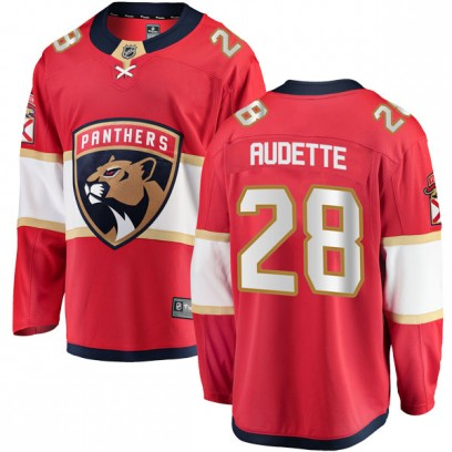 Men's Breakaway Florida Panthers Donald Audette Fanatics Branded Home Jersey - Red