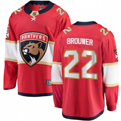 Men's Breakaway Florida Panthers Troy Brouwer Fanatics Branded Home Jersey - Red