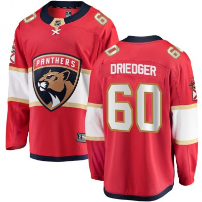 Men's Breakaway Florida Panthers Chris Driedger Fanatics Branded Home Jersey - Red
