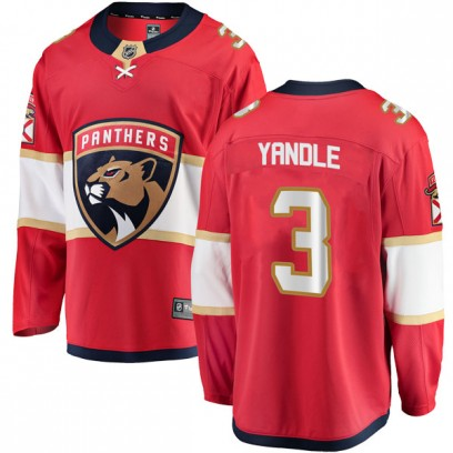 Men's Breakaway Florida Panthers Keith Yandle Fanatics Branded Home Jersey - Red