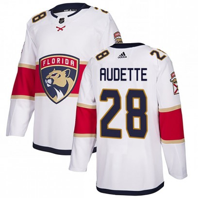 Youth Authentic Florida Panthers Donald Audette Adidas Away Jersey - White