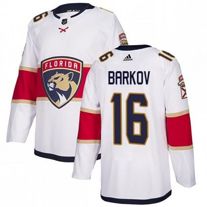 Youth Authentic Florida Panthers Aleksander Barkov Adidas Away Jersey - White