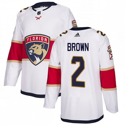 Youth Authentic Florida Panthers Josh Brown Adidas Away Jersey - White