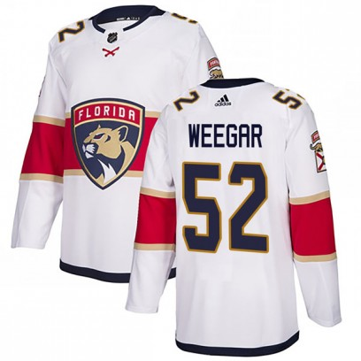 Youth Authentic Florida Panthers MacKenzie Weegar Adidas Away Jersey - White