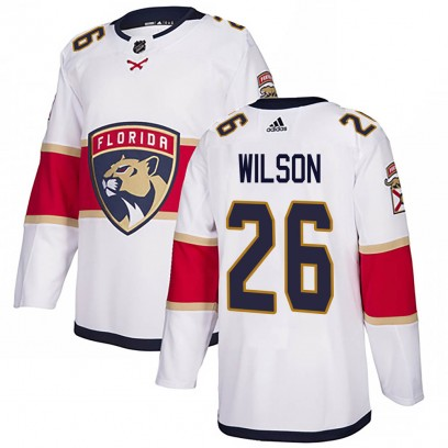 Youth Authentic Florida Panthers Scott Wilson Adidas Away Jersey - White