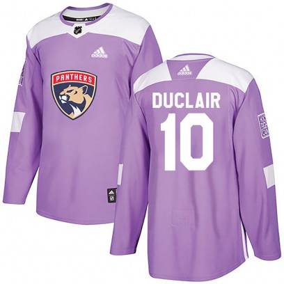Men's Authentic Florida Panthers Anthony Duclair Adidas Fights Cancer Practice Jersey - Purple