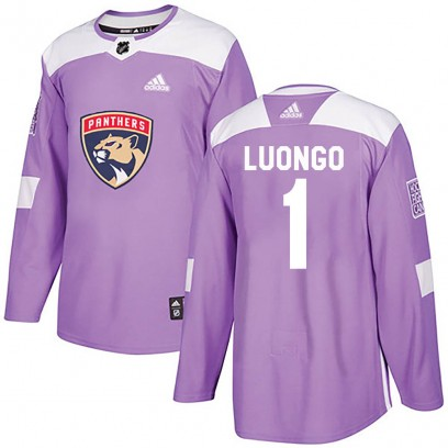 Men's Authentic Florida Panthers Roberto Luongo Adidas Fights Cancer Practice Jersey - Purple