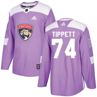 Men's Authentic Florida Panthers Owen Tippett Adidas Fights Cancer Practice Jersey - Purple