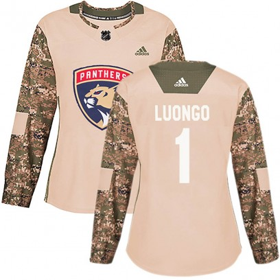 Women's Authentic Florida Panthers Roberto Luongo Adidas Veterans Day Practice Jersey - Camo