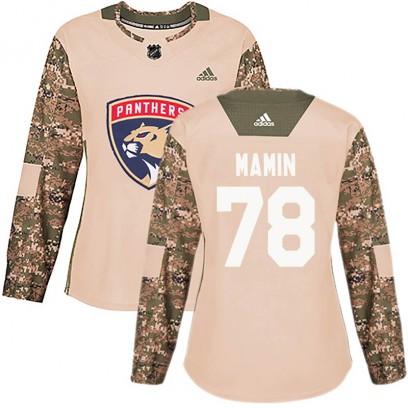 Women's Authentic Florida Panthers Maxim Mamin Adidas Veterans Day Practice Jersey - Camo