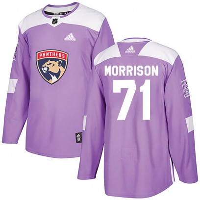 Youth Authentic Florida Panthers Brad Morrison Adidas Fights Cancer Practice Jersey - Purple