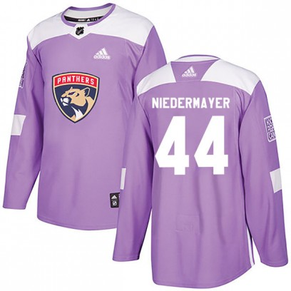 Youth Authentic Florida Panthers Rob Niedermayer Adidas Fights Cancer Practice Jersey - Purple