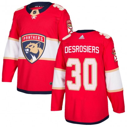Youth Authentic Florida Panthers Philippe Desrosiers Adidas ized Home Jersey - Red