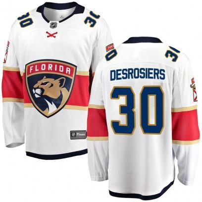 Youth Breakaway Florida Panthers Philippe Desrosiers Fanatics Branded ized Away Jersey - White