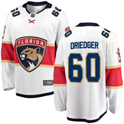 Youth Breakaway Florida Panthers Chris Driedger Fanatics Branded Away Jersey - White