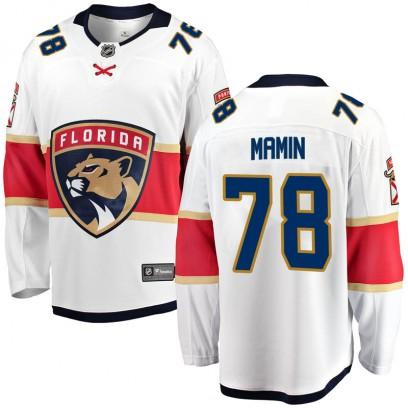 Youth Breakaway Florida Panthers Maxim Mamin Fanatics Branded Away Jersey - White