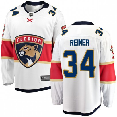 Youth Breakaway Florida Panthers James Reimer Fanatics Branded Away Jersey - White