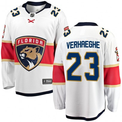 Youth Breakaway Florida Panthers Carter Verhaeghe Fanatics Branded Away Jersey - White