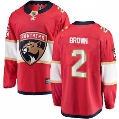 Youth Breakaway Florida Panthers Josh Brown Fanatics Branded Home Jersey - Red