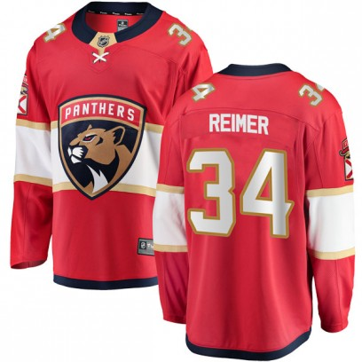 Youth Breakaway Florida Panthers James Reimer Fanatics Branded Home Jersey - Red