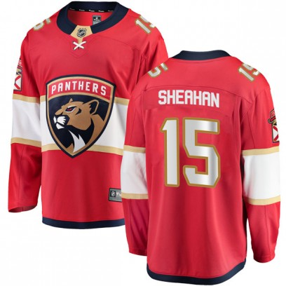 Youth Breakaway Florida Panthers Riley Sheahan Fanatics Branded Home Jersey - Red