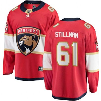 Youth Breakaway Florida Panthers Riley Stillman Fanatics Branded Home Jersey - Red