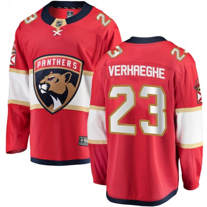 Youth Breakaway Florida Panthers Carter Verhaeghe Fanatics Branded Home Jersey - Red
