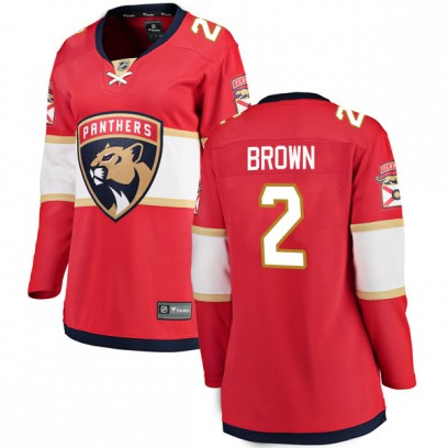 Women's Breakaway Florida Panthers Josh Brown Fanatics Branded Home Jersey - Red