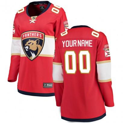 Women's Breakaway Florida Panthers Custom Fanatics Branded Home Jersey - Red
