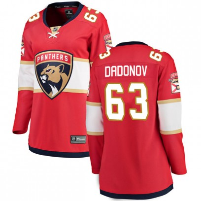Women's Breakaway Florida Panthers Evgenii Dadonov Fanatics Branded Home Jersey - Red