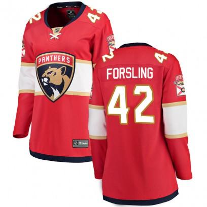 Women's Breakaway Florida Panthers Gustav Forsling Fanatics Branded Home Jersey - Red