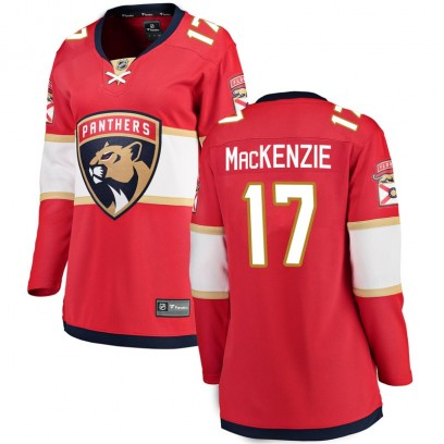 Women's Breakaway Florida Panthers Derek Mackenzie Fanatics Branded Derek MacKenzie Home Jersey - Red