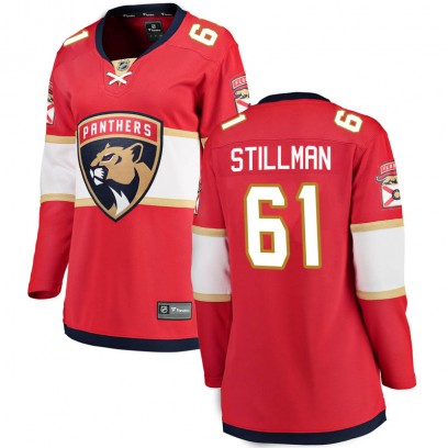 Women's Breakaway Florida Panthers Riley Stillman Fanatics Branded Home Jersey - Red